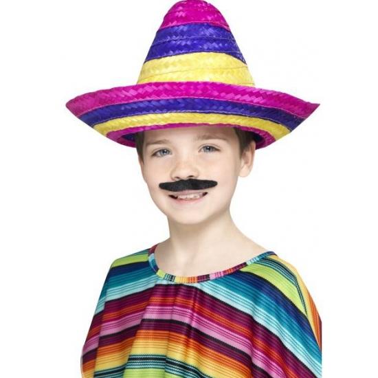 Feest hoeden Smiffys Gekleurde sombrero voor kinderen