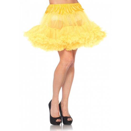 Gele Petticoat Kort 2-laags 40 Cm