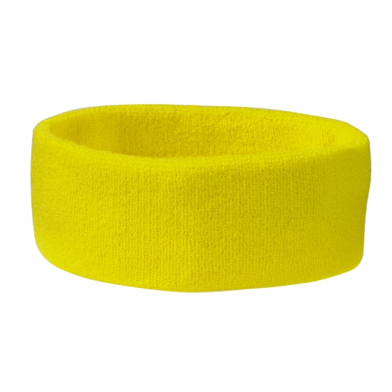 Gele sportdag hoofd zweetband