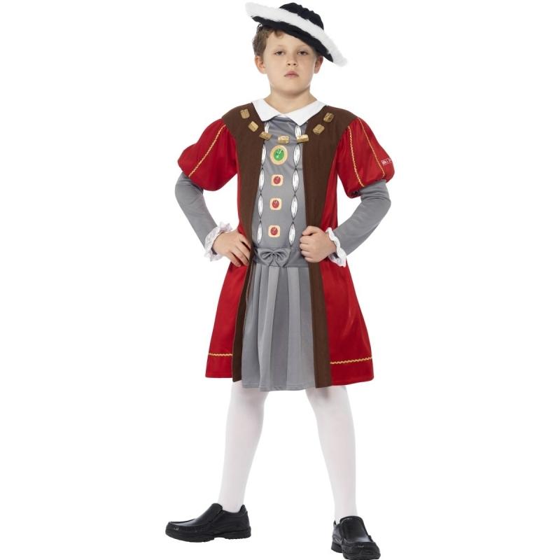 Geschiedenis Henry VIII kostuum voor jongens Smiffys Premier