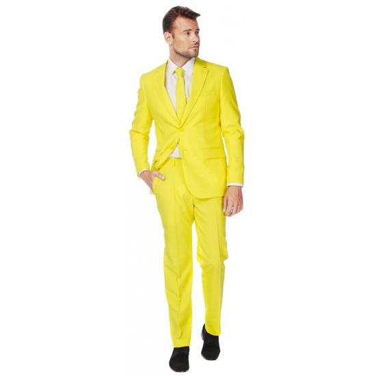 Getailleerd geel pak voor heren
