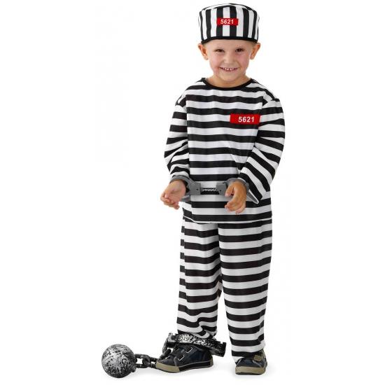 Gevangene kostuum voor jongens Geen Beroepen kostuums