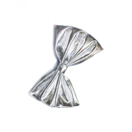 Verkleedaccessoires Geen Glimmend vlinderstrikje zilver