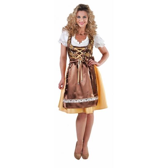 Gouden bierfeest jurkjes voor dames