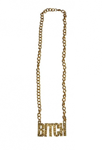 Gouden bling ketting Bitch Carnavalskostuum winkel laagste prijs