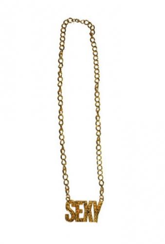 Gouden bling ketting Sexy Carnavalskostuum winkel Verkleedaccessoires