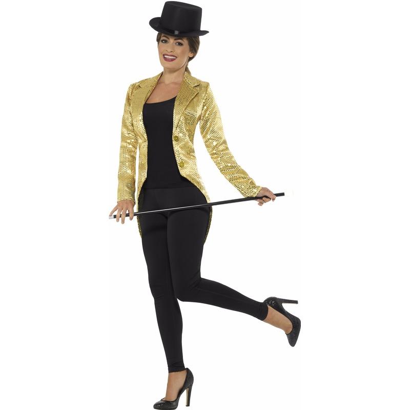 Gouden dames slipjas met pailletten