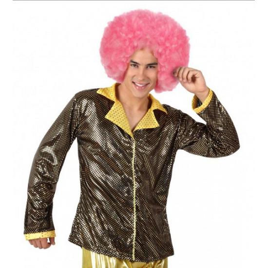 Gouden discokleding glitterjasje