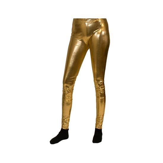 Verkleedaccessoires Carnavalskostuum winkel Gouden legging
