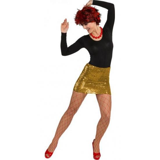 Kleuren kostuums Gouden rok met pailletten voor dames