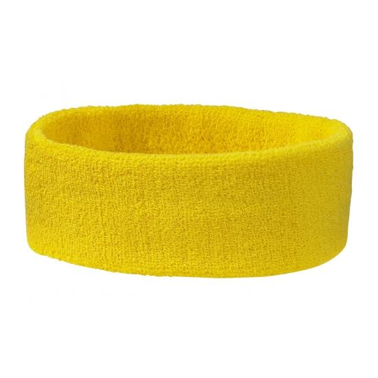 Goudgele hoofd zweetbanden