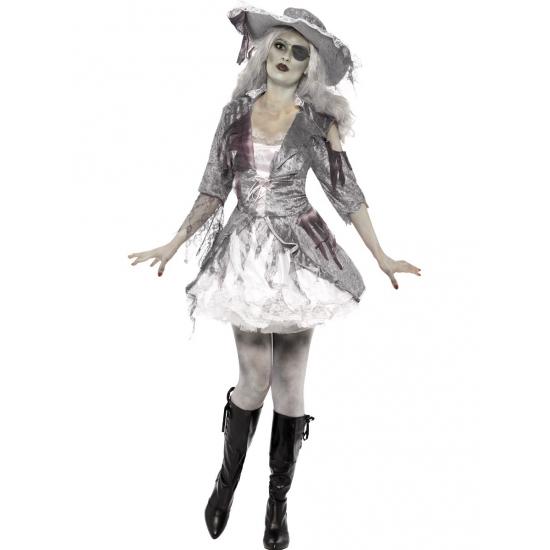 Grijs en wit piraten spook jurkje