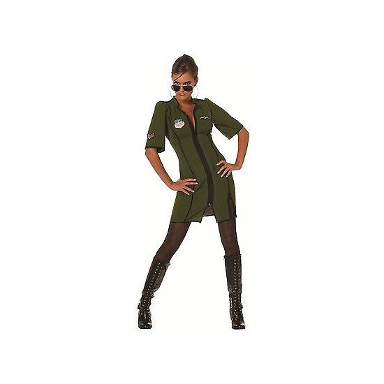 Beroepen kostuums Carnavalskostuum winkel Groen piloten pakje voor dames