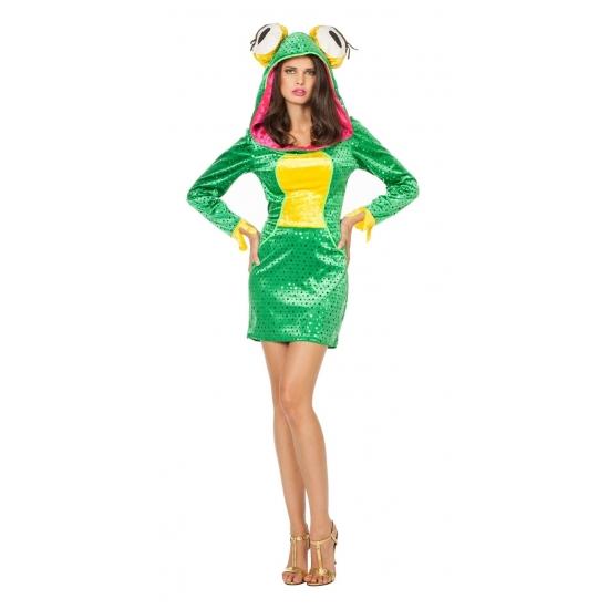 Groen sexy kikker jurkje