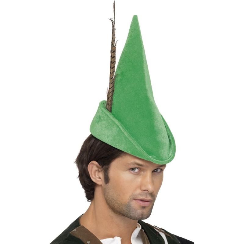 Groene Robin Hood hoed voor volwassenen Geen Koopje