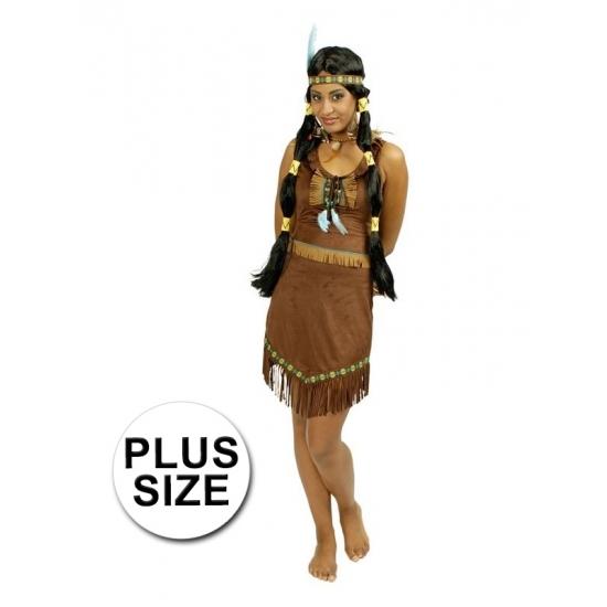 Geschiedenis kostuums Carnavalskostuum winkel Grote maat Indianen jurk Prairie voor dames