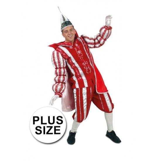 Landen kostuums Geen Grote maat Prins Carnaval kostuum rood wit