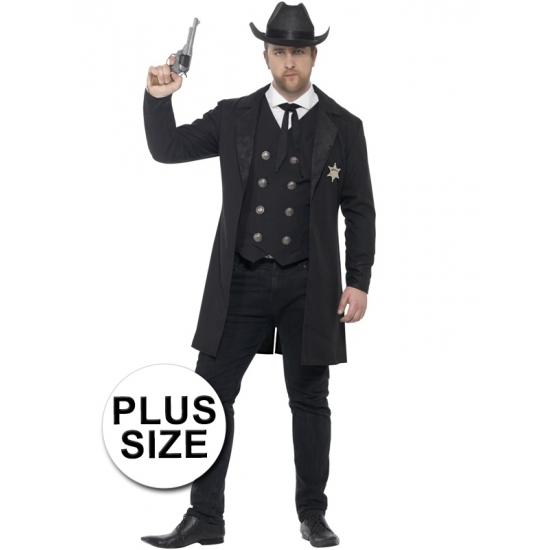 Geschiedenis kostuums Grote maten sheriff kostuum voor heren