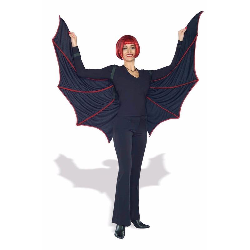 Halloween Artikelen Rood Zwarte Vleugels Volwassene