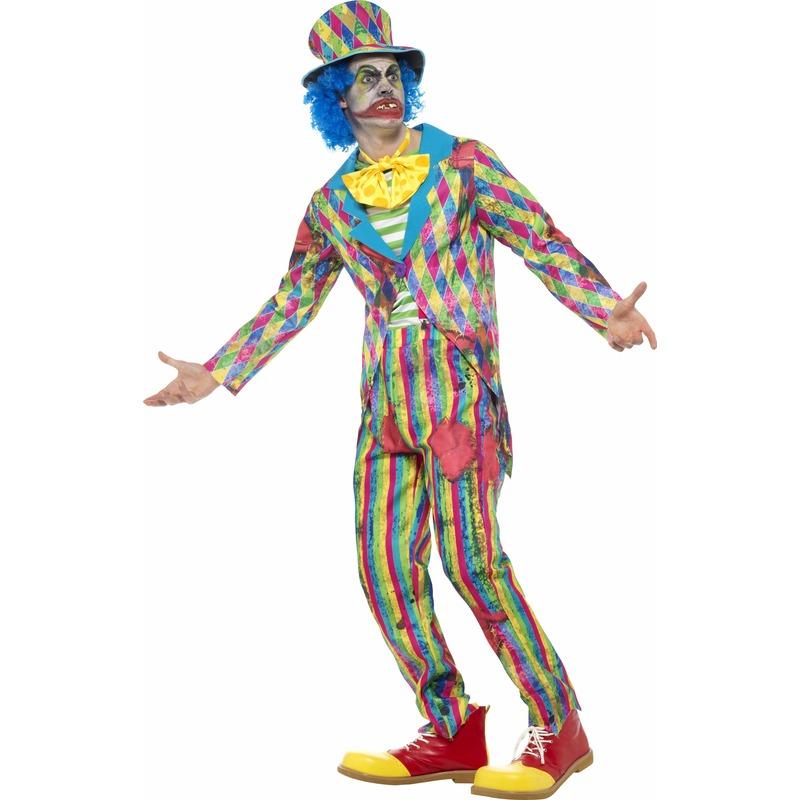 Halloween - Gestreept horror clowns kostuum voor mannen