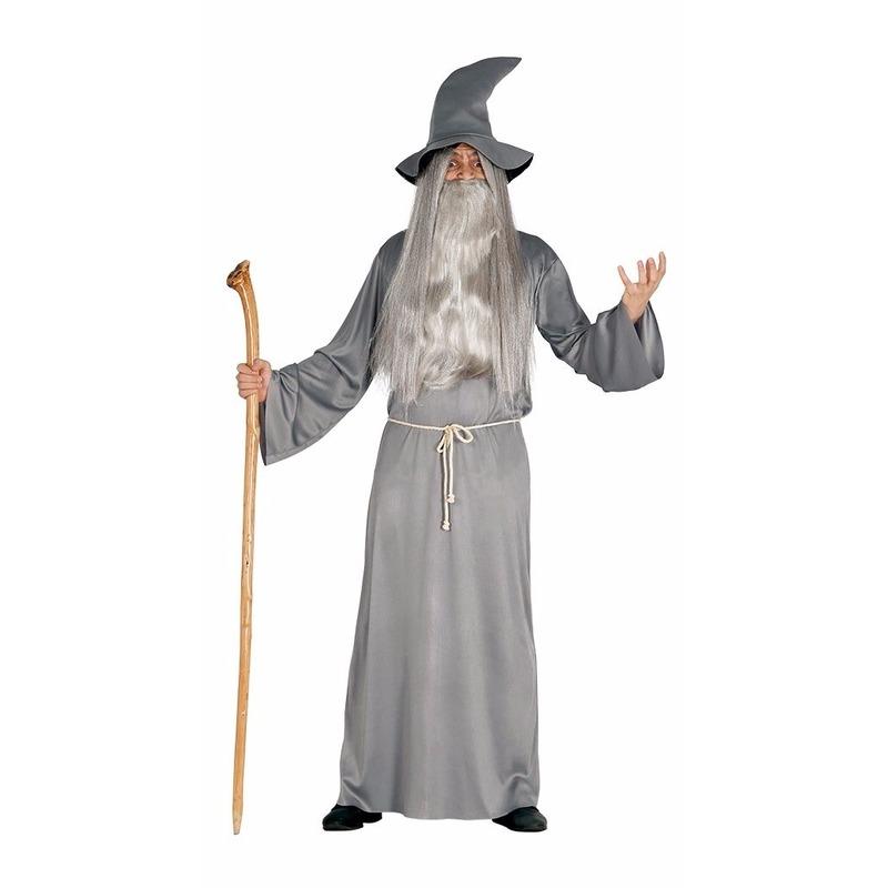 Halloween - Grijze magische tovenaar kostuum voor heren