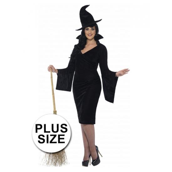 Halloween - Grote maten heksen jurkje voor dames