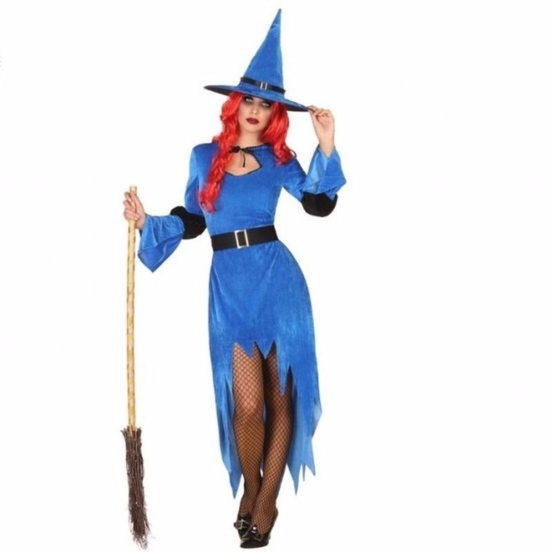 Halloween - Halloween blauwe heksen kostuum voor dames