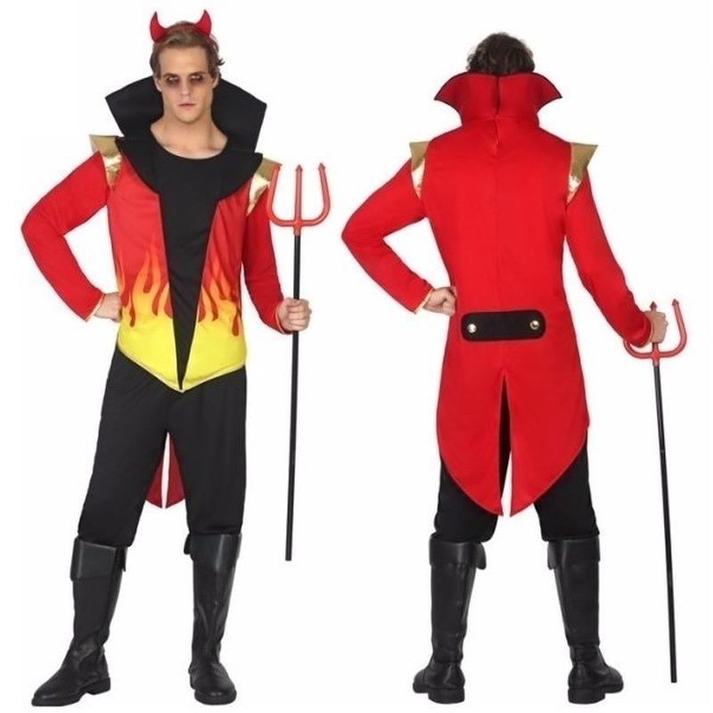Halloween - Halloween duivel heren kostuum met vlammen