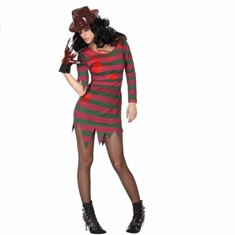 Halloween - Halloween Freddy kostuum voor dames