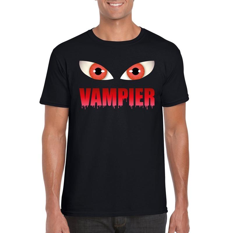 Halloween - Halloween vampier ogen t-shirt zwart heren