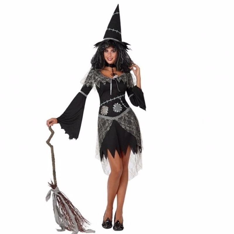 Halloween - Halloween zwarte heksen kostuum voor dames