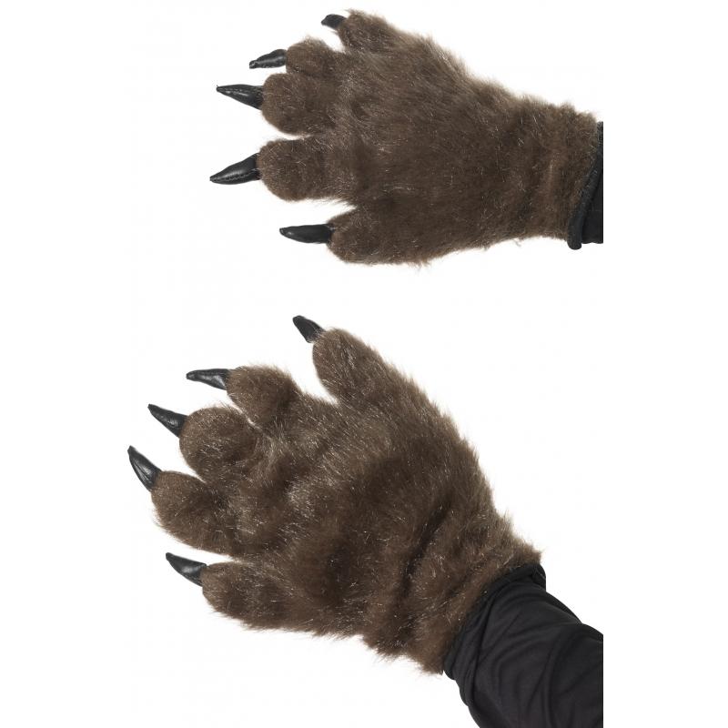 Halloween - Harige dierenpoot handschoenen