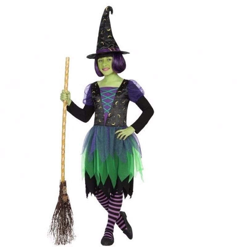 Halloween Heksen outfit groen zwart voor meisjes Geen Halloween kostuums