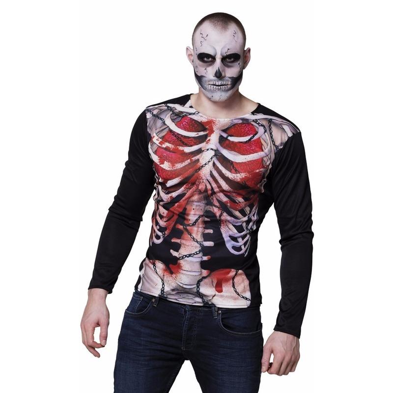 Halloween - Heren shirt bloederige zombie Karkas