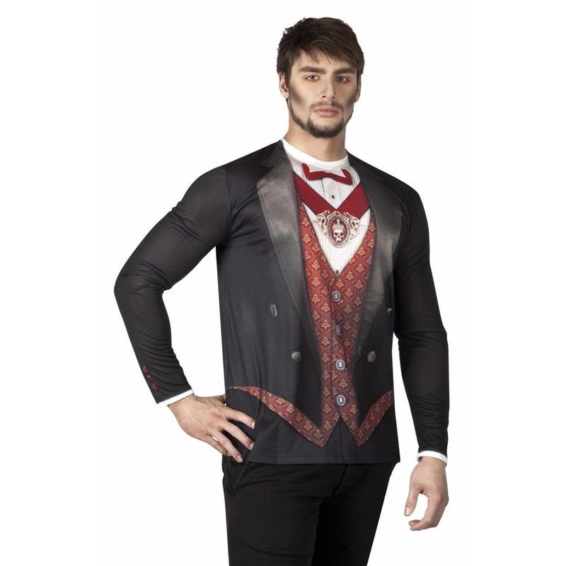 Halloween - Heren shirt met vampier opdruk