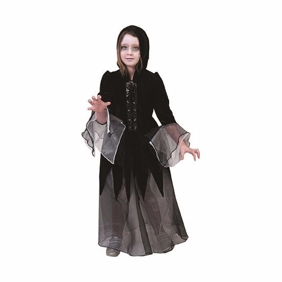Halloween kostuums Geen Halloween Meisjes vampieren jurk zwart grijs