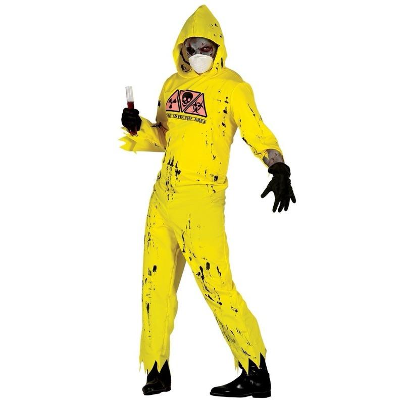 Halloween - Radioactieve zombie kostuum voor heren