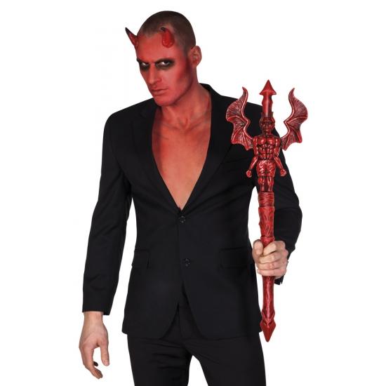 Halloween - Rode luxe duivel drietand 73 cm