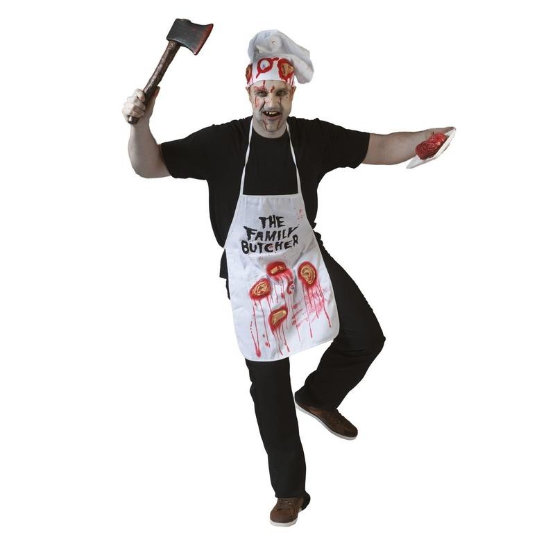Halloween - Schort met lichaamsdelen
