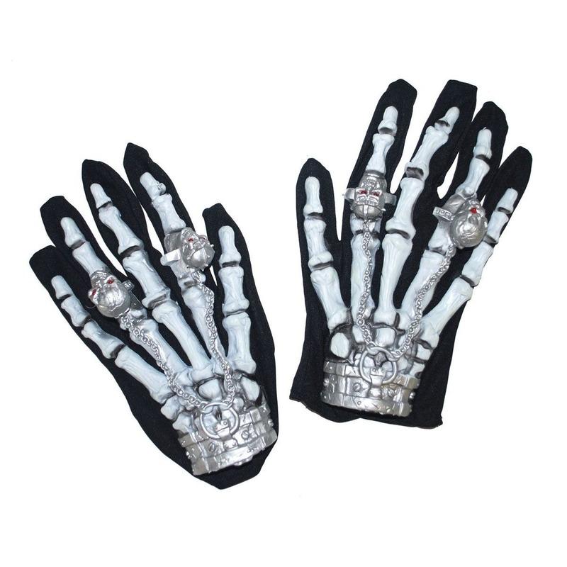 Halloween - Skelet handschoenen met licht