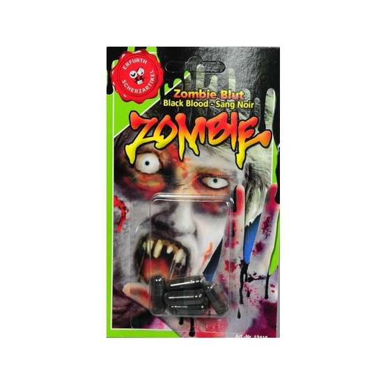 Halloween - Zwarte bloed capsules
