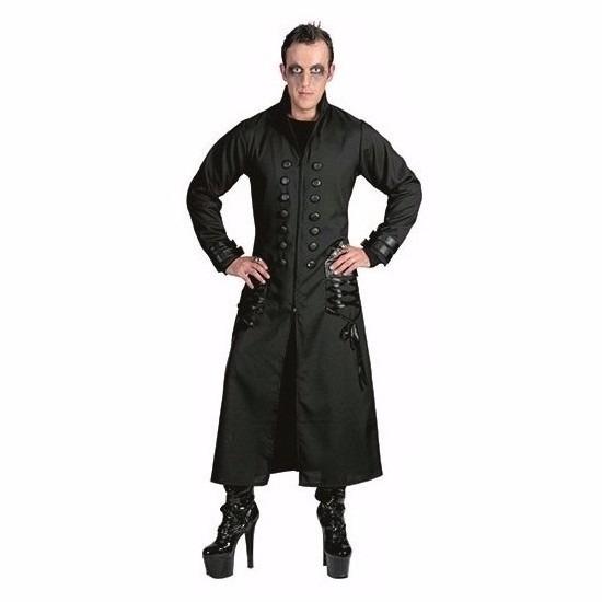 Halloween - Zwarte gothic/vampier jas verkleedkleding voor heren