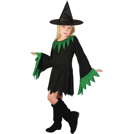 Carnavalskostuum winkel Halloween Zwarte heksenjurk voor meisjes Halloween kostuums