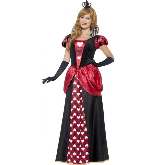 Fantasy en Sprookjes kostuums Hartenkoningin kostuum voor dames