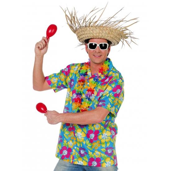 Hawaiishirt blauw voor heren Carnavalskostuum winkel laagste prijs