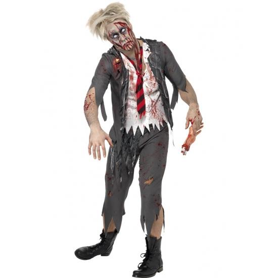 Heren kostuum zombie schoolboy