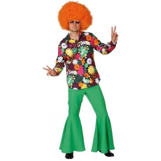 Hippie overhemd met bloemen