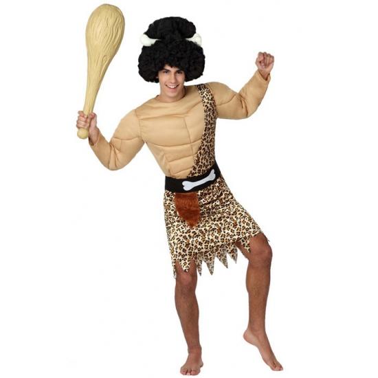 Holbewoner met spieren kostuum voor heren