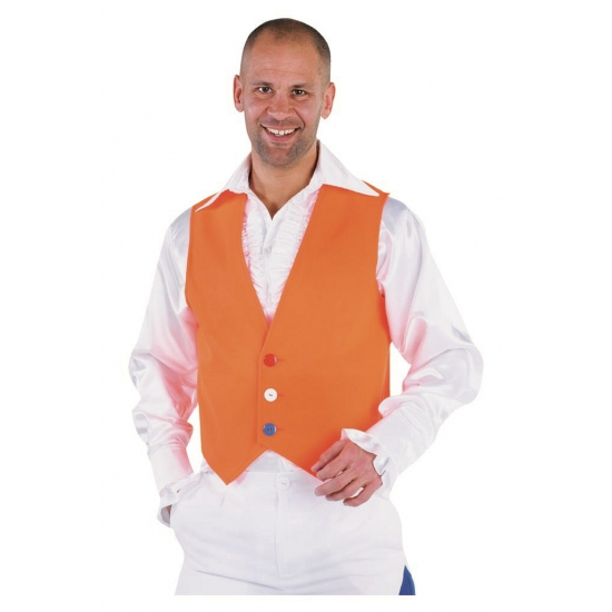 Holland vest voor heren oranje