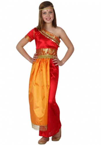 Indische jurk voor meisjes Carnavalskostuum winkel Landen kostuums